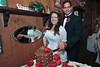 Cutting the Bride's wedding cake