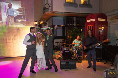 Wedding Photo of the Bride, Groom and Band.