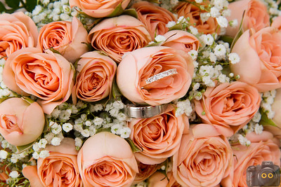 Wedding Photo of the Rings in the flowers.