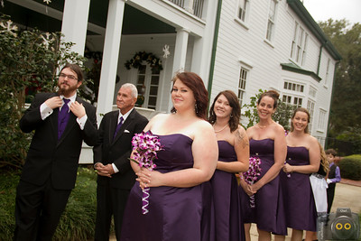 Wedding Photo of the Bridal Party just before the ceremony.