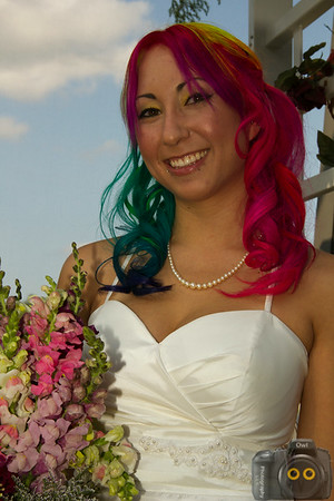 Wedding Photo of the Bride.  1st wedding of Owl Photography.