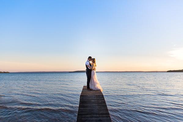 Bride and Groom at Sunset | Rayan Anastor Photography | Traverse City Wedding Photographer