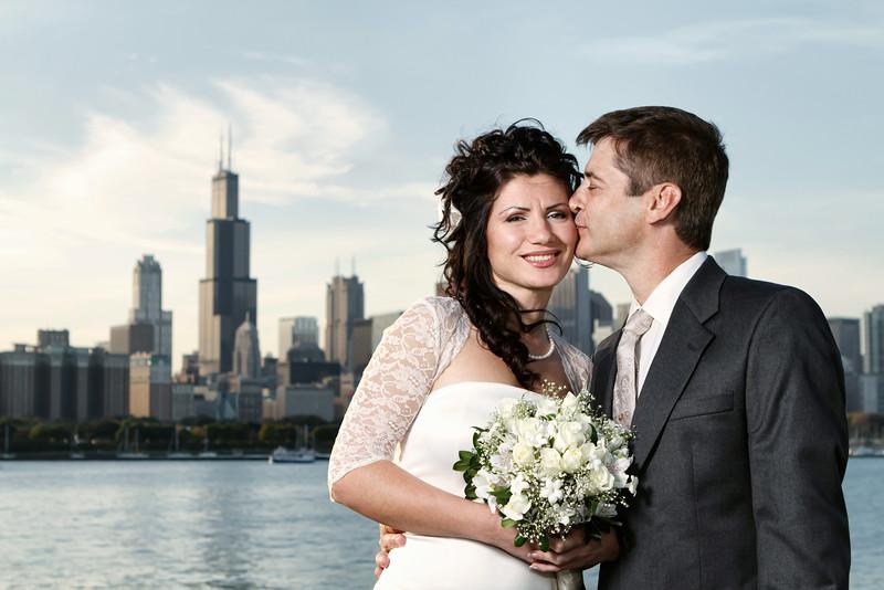 Iryna Zablotna & A.J. Waggoner Portrait - The City Skyline Around the City - Chicago, Illinois