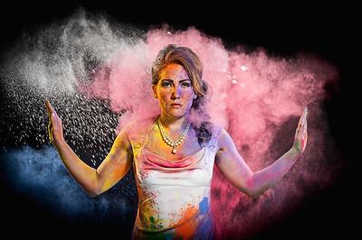 powder paint trash the dress bride