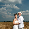 Lauren Fink & Justin Wolf<br /> Wedding Portrait<br /> Random Field - Beecher, Illinois