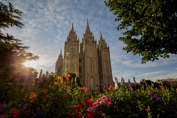 The Mormon Temple in Salt Lake City