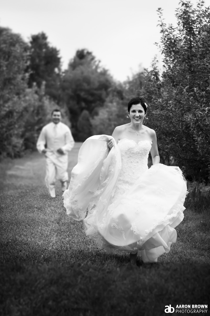 Alyeska Kochanek & Richard Martinez Wedding Day - Portrait County Line Orchard - Hobart, Indiana