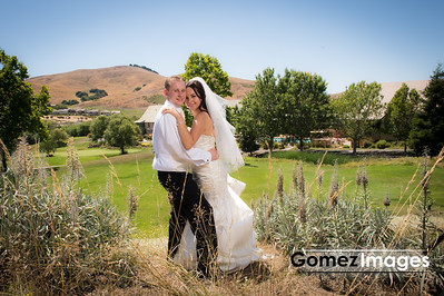 Wedding portrait at Hiddenbrooke Golf Club