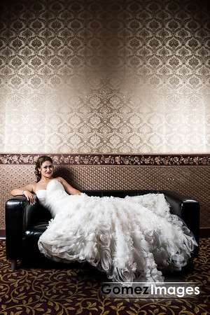 Elegant bridal portrait at Paradise palace banquet hall