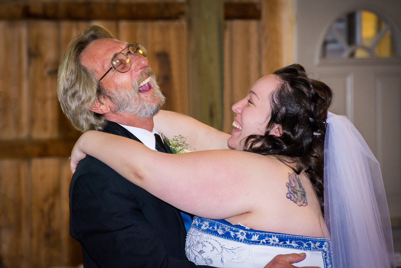 A joyous moment captured during a father-daughter dance. One of my favorites!