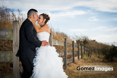 Romantic Wedding Portrait at shoreline park
