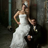 Allison Moore & Sam Henderson<br /> Wedding Day - Portrait<br /> The Square - Crown Point, Indiana