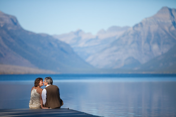 Lake McDonald, Glacier National Park, Montana Elopement