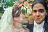 double-exposure of bride + groom<br /> 2012©MegSeidel