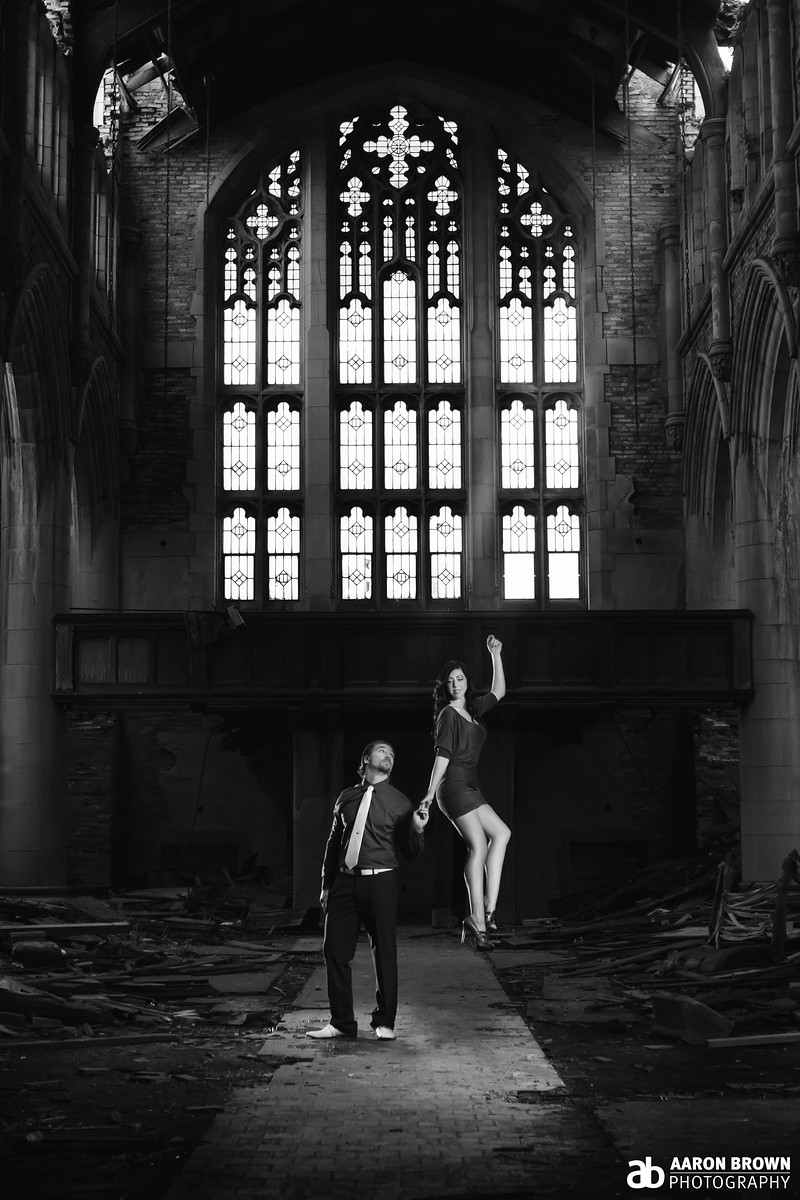 Shannon Grimmer & Jordan Smolar Engagement Session City Methodist Church - Gary, Indiana