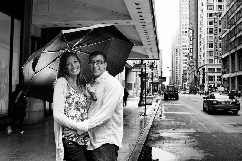 Lauren Press & Geoff Cianci Engagement Session Downtown Chicago - Chicago, Illinois