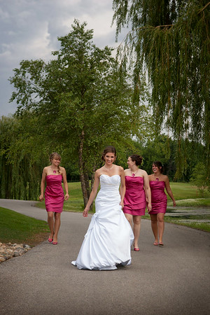 Ashley Santefort & Kevin McCollom<br /> Wedding Day - The Bride & Her Bridesmaids<br /> White Hawk Country Club - Crown Point, Indiana