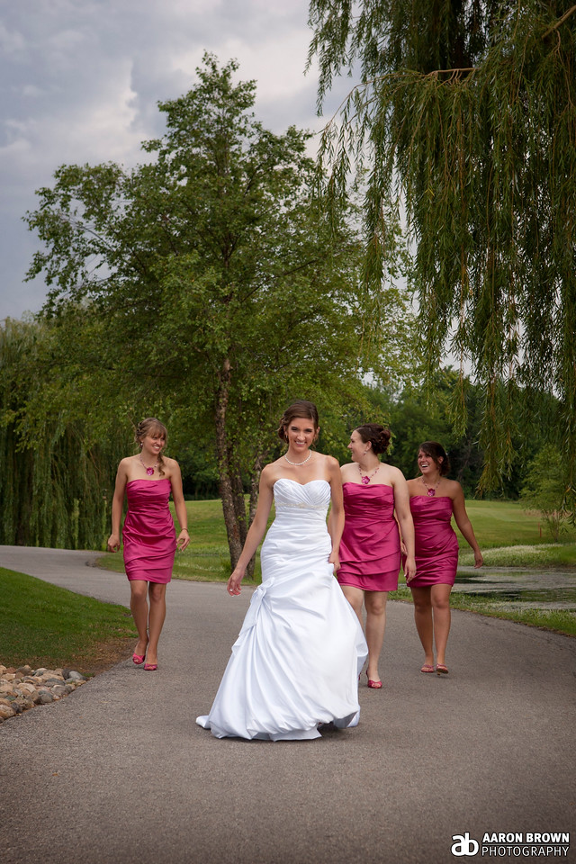 Ashley Santefort & Kevin McCollom Wedding Day - The Bride & Her Bridesmaids White Hawk Country Club - Crown Point, Indiana