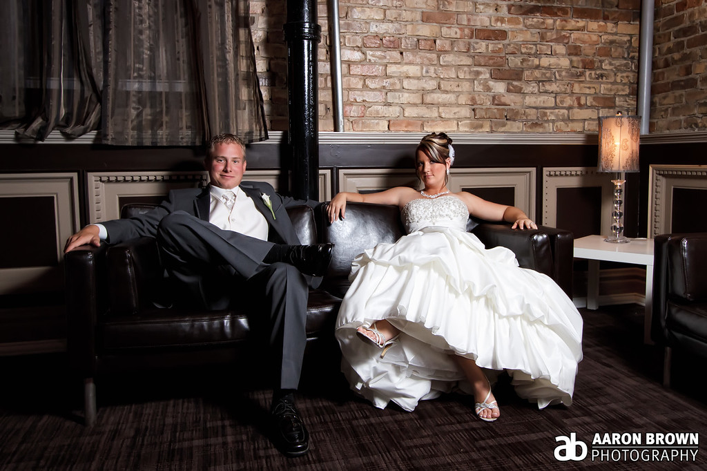 Stephanie Jessup & Dave Miloshoff Wedding Day - Reception Portrait The Allure - LaPorte, Indiana