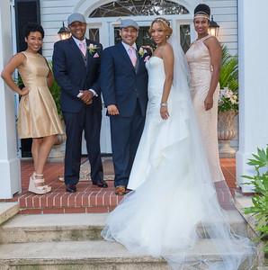 Nicole Duprey and Elvis Guerrero wedding party