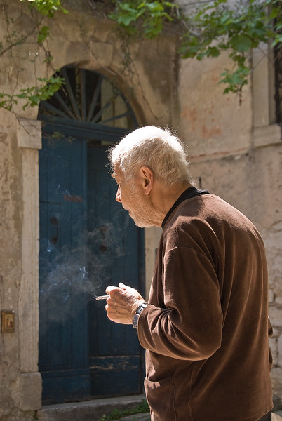 Smoker portrait, Porec, Croatia