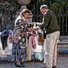 Segovia, small street market