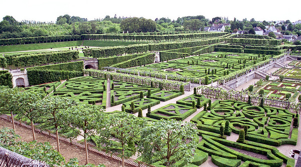 Gardens of Villandry, Loire Valley, France