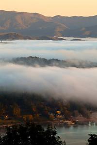 """Beneath the Fog"" (Photo: Kelly J. Owen) Chatuge Lake Hiawassee, Georgia"