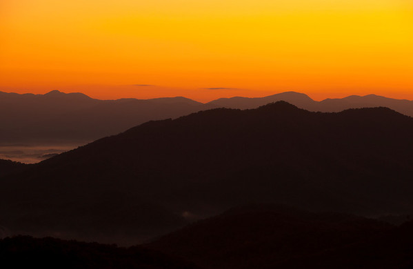 """Sunrise over Nantahala"" Nantahala National Forest, North Carolina (Photo: Kelly J. Owen)"