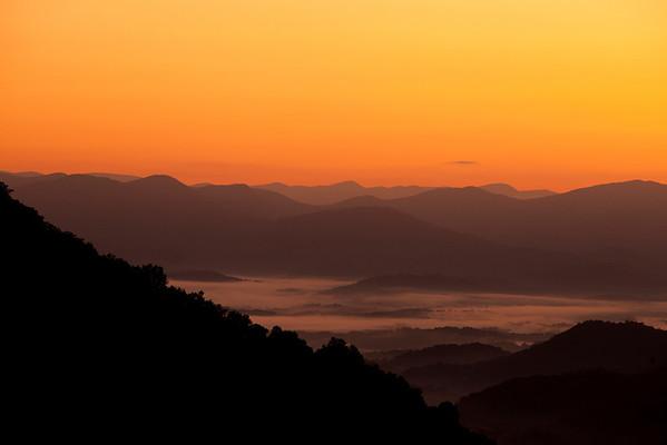 """Sunrise over Nantahala"" Nantahala National Forest, North Carolina (Photo: Kelly J. Owen)"