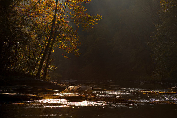 """Morning at the Nantahala River"" Franklin, North Carolina (Photo: Kelly J. Owen)"