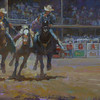 Brother's Keeper (Stampede Rempel brothers)<br /> 12x24 <br />  PRIVATE COLLECTION