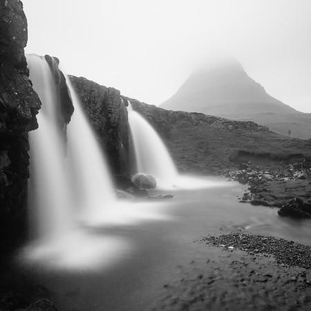 Disappearance. Kirkjufell, Snæfellsnes Peninsula, Iceland