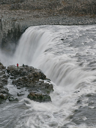 Powerful Dettifoss Waterfall, North Iceland