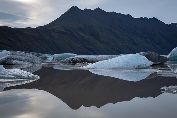Heinabergslón glacier lagoon, South Iceland