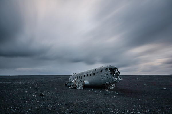 US Navy DC-3 Plane wreck, Sólheimasandur black sand beach, Iceland