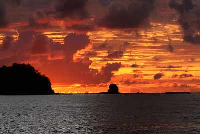 Costa Rica  One of many beautiful sunsets seen in Costa Rica