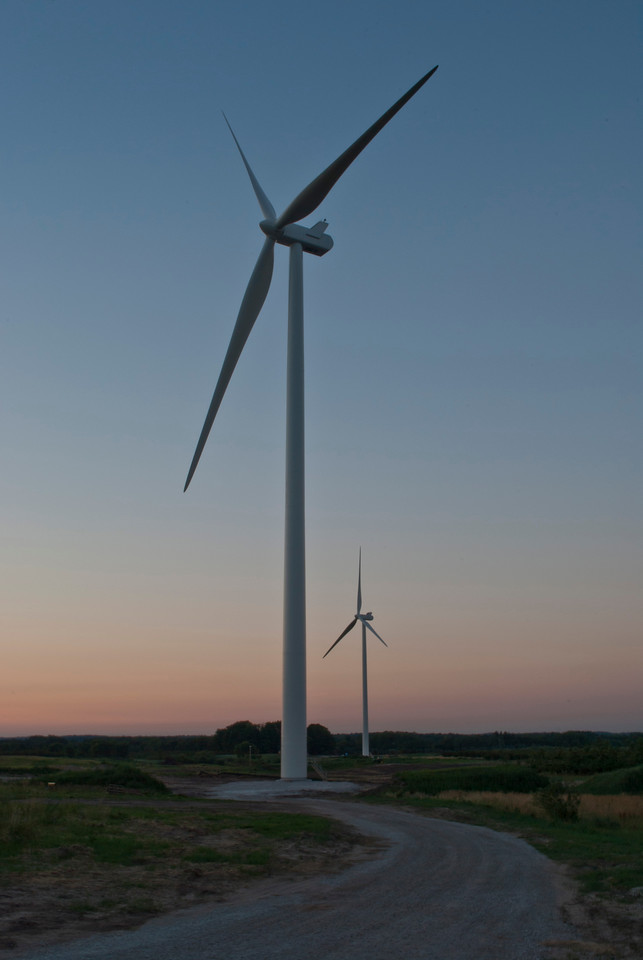 Wind Turbines At Dusk 1