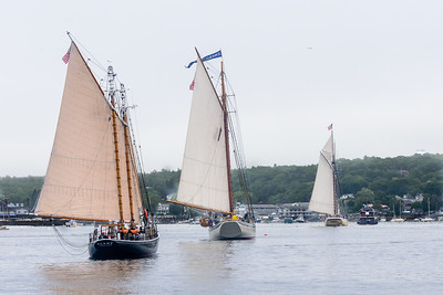 Windjammers Parade into Boothbay Harbor