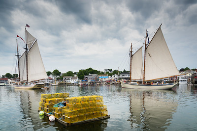Windjammers in Boothbay Harbor