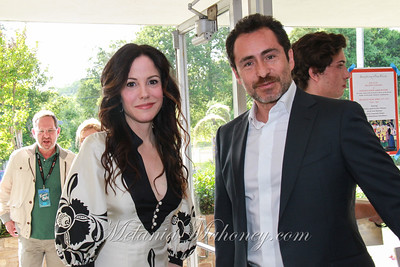 Arriving at the Spotlight Gala at the Vet's Building Saturday evening are honorees, Mary-Louise Parker and Demián Bichir.