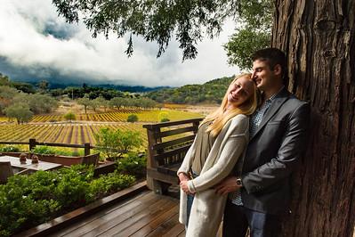Marriage Proposal of Rose & Michael at Joseph Phelps Vineyards