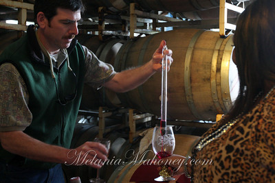 Winemaker Ted Coleman at Little Vineyards. Sample from the barrel during Savor Sonoma on Sunday.
