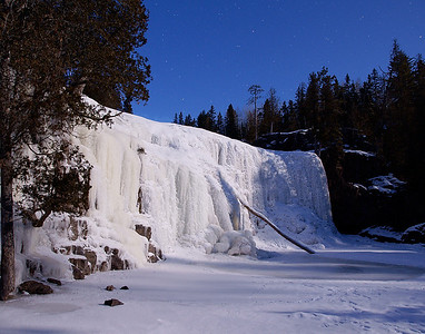 Lower Gooseberry Falls By Moonlight