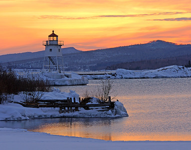 Grand Marais Harbor Sunset