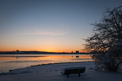 Winter Dawn Over Back Bay, Portland