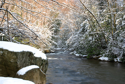 Bear Creek In The Snow
