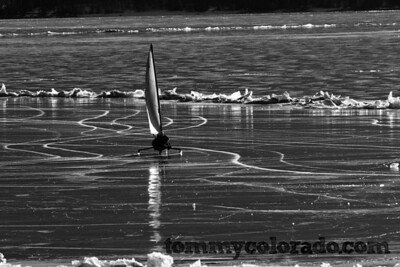 Ice boating on Lake Dillon during a dry season of very little snow.... skiing sucks, so may as well do something else with an adrenaline rush!