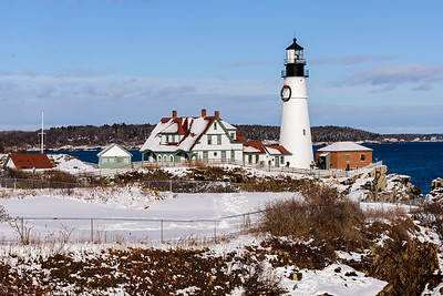 Bright Winter Day at Portland Headlight