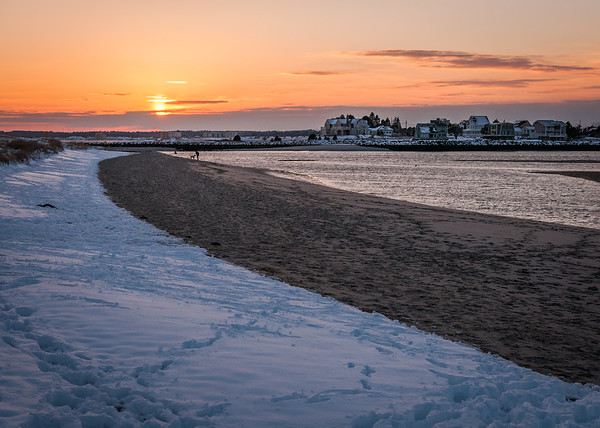 Winter Sunset at Ferry Beach